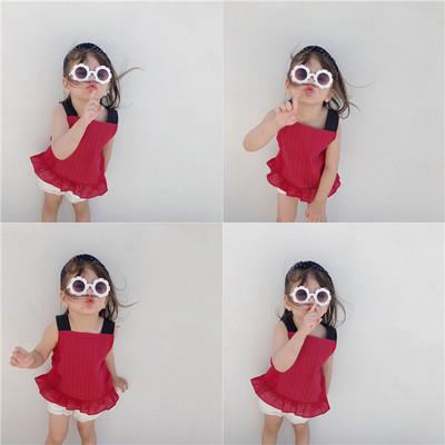 Áo ba lỗ  / Áo hai dây trẻ em Thương hiệu lớn nhỏ 2019 hè mới quần áo trẻ em Phiên bản Hàn Quốc của