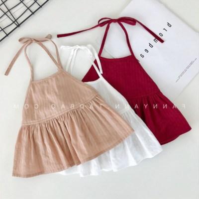 Áo ba lỗ  / Áo hai dây trẻ em 2019 mới mùa xuân và mùa hè cô gái in nổ mẫu sơ sinh sơ sinh dây áo sơ