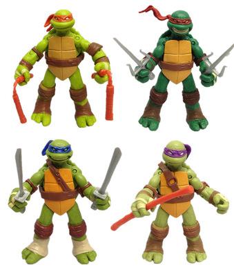Đồ chơi hoạt hình Huashibo anime 4 Ninja Turtles phim lớn Rafael búp bê làm bằng tay mô hình búp bê
