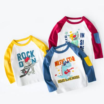 Áo thun trẻ em 27kids Trẻ em Hàn Quốc mặc áo mùa thu cho bé trai Áo phông dài tay cho trẻ em