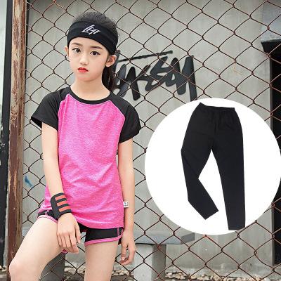 Đồ Suits trẻ em Mùa hè mới quần áo yoga thể thao phù hợp với quần áo trẻ em lớn quần áo chạy nhanh k