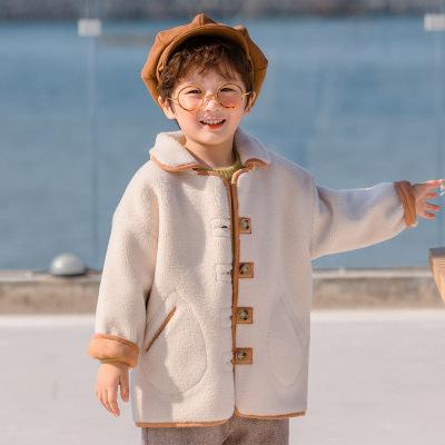 Áo khoác trẻ em Mèo nhỏ lười quần áo trẻ em mùa đông trẻ em mới học đại học lông gió một chiếc áo kh
