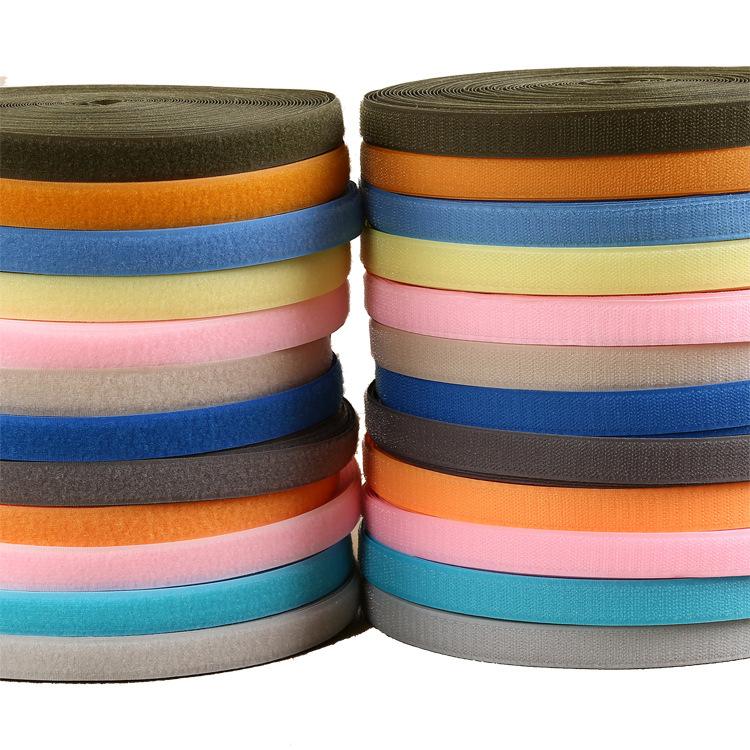 YICHAOREN Khoá dán Keo màu với Polyester 10 mm-150mm Màu đen và trắng Velcro không có nút keo Khâu m