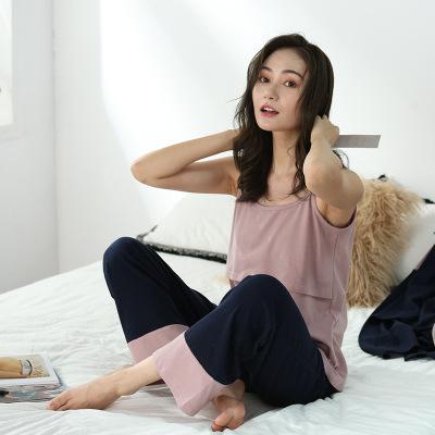 Trang phục trong tháng (sau sinh) Váy bà bầu mới 2019 xuân hè phiên bản Hàn Quốc phù hợp với tháng p