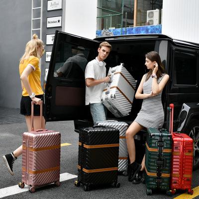 VaLi hành lý Logo tùy chỉnh cao cấp khung nhôm xe đẩy trường hợp 20/22/24/26/29 inch phổ biến bánh x