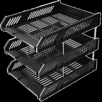 Deli  Kệ hồ sơ  Deli 9209Z giữ tập tin hộp nhựa ngang ba lớp tập tin hoàn thiện dữ liệu lưu trữ giá
