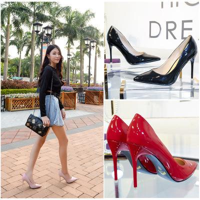 Giày da một lớp Thế hệ giày cao gót mũi nhọn bằng sáng chế giày da công sở cỡ lớn 41-43 cỡ nhỏ 31 32
