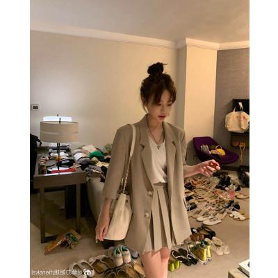 Đồ Suits 2019 sản phẩm mới trái tim tốt nơi công sở khí đốt tay áo phù hợp với bộ đồ nhỏ + váy xếp l