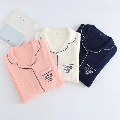 Trang phục trong tháng (sau sinh) 19 tháng mới vải quần áo cotton mùa xuân và mùa hè mỏng gạc rửa sạ