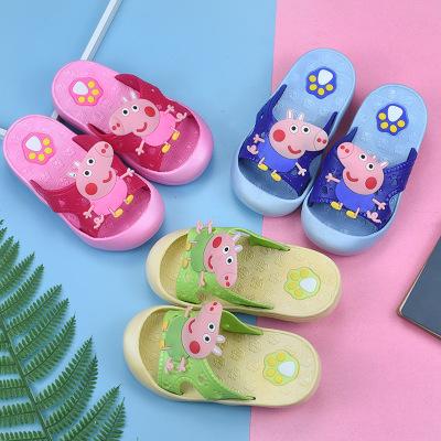 dép trẻ em t phim hoạt hình dễ thương lợn khỉ con baotou trong nhà phòng tắm từ kéo thoải mái chống