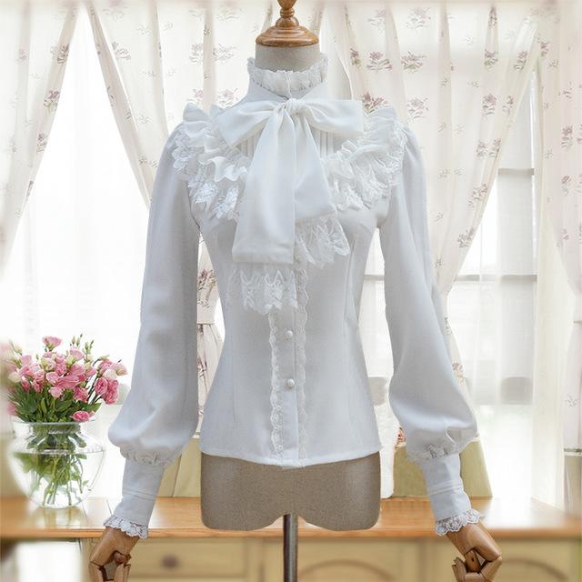 ZHIJINYUAN Thời trang nữ Túi tóc giúp mùa xuân hè 2019 và áo sơ mi trắng dài tay mới liti retro Slim