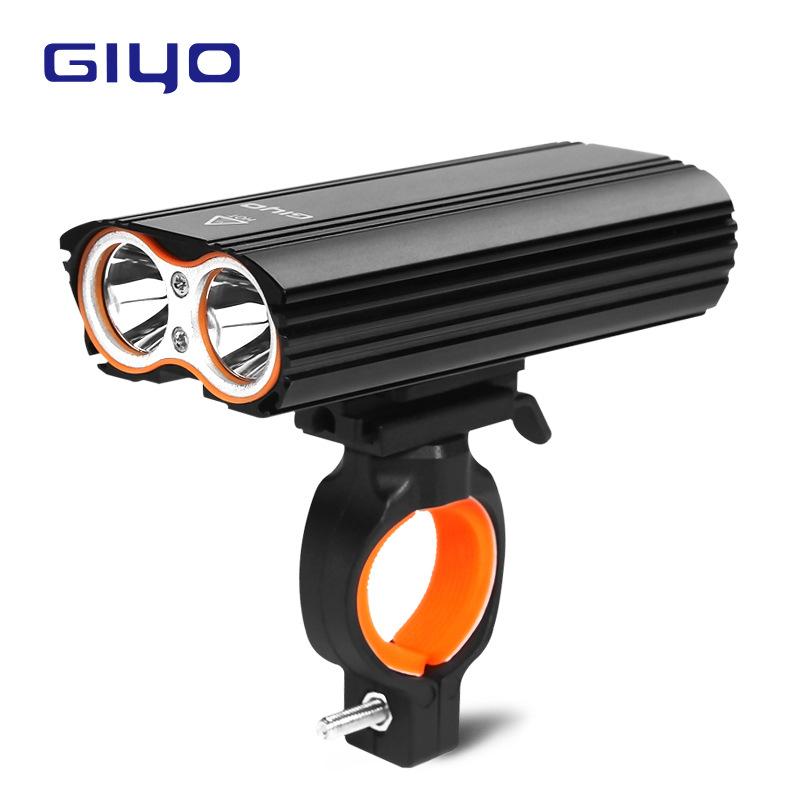 Đèn pha xe đạp GIYO - T6 sạc USB không thấm nước xoay 360 °