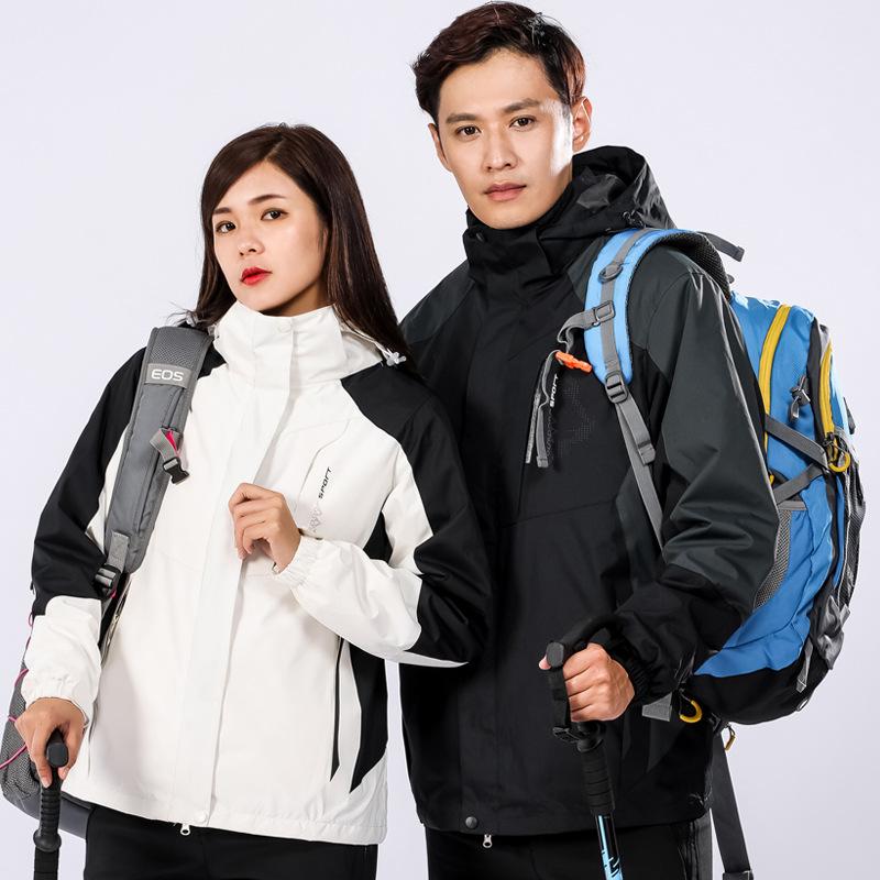 V25 Lót nỉ Soflshell Tùy chỉnh mùa thu và mùa đông ngoài trời vỏ mềm áo khoác nam và nữ mô hình cặp