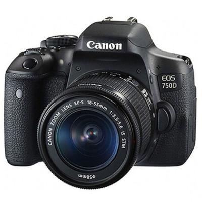CANON Máy ảnh phản xạ ống kính đơn / Máy ảnh SLR Máy ảnh DSLR Canon / Canon EOS 750D (18-55STM) Bộ m