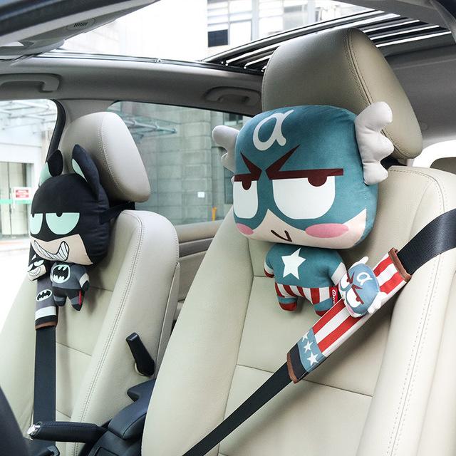 Đồ dùng ô tô Túi tóc giúp Xe tựa đầu gối hoạt hình Ghế ngồi gối xe cổ Gối dễ thương nội thất xe cung