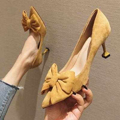 Giày GuangDong Giày nữ công sở đẹp với 2019 mới hoang dã mạng lưới cổ tích đỏ Cô gái Pháp giày đơn n