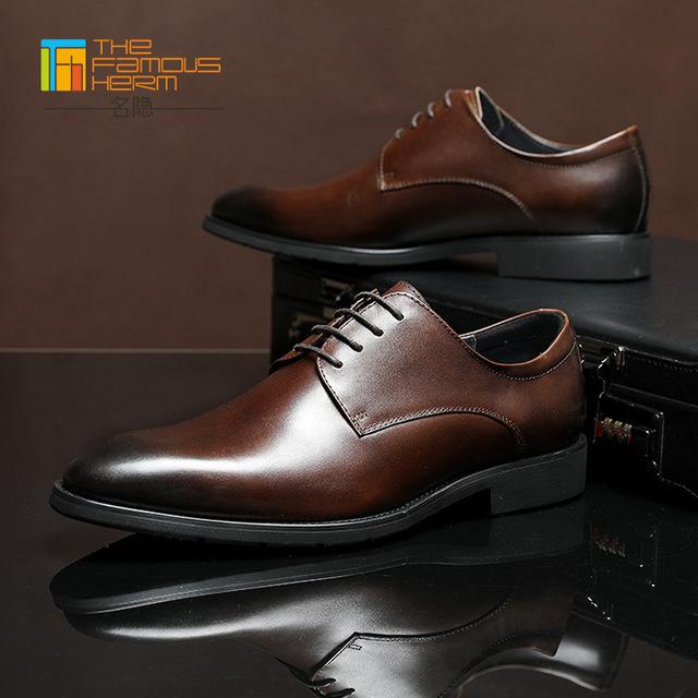 The famous herm Giầy dép Túi lông giày nam TFH | cao cấp handmade giày da bò đầu tiên cho nam bốn mù