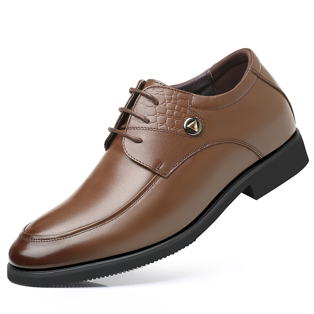 XINJIAODU thị trường giày nam Giày nam mùa thu mới tăng giày bán buôn Giày nam kinh doanh giày da Gi