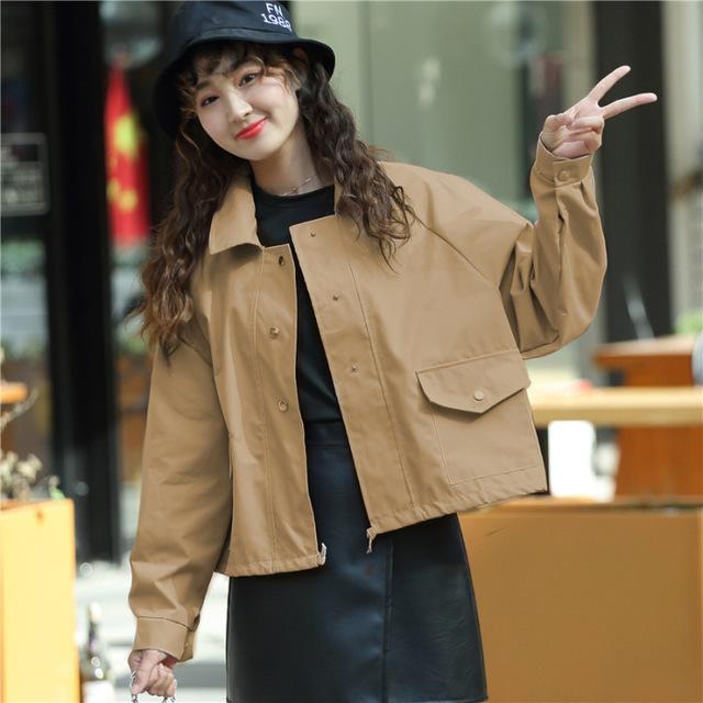 Áo khoác mùa thu đông 2019 dành cho nữ hoang dã Áo khoác mỏng nữ phiên bản Hàn Quốc của áo khoác nữ