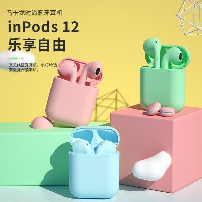 LANPICE Tai nghe Bluetooth Macaron mới đầy màu sắc INPODS12 không dây Bluetooth tai nghe mờ tinh tế