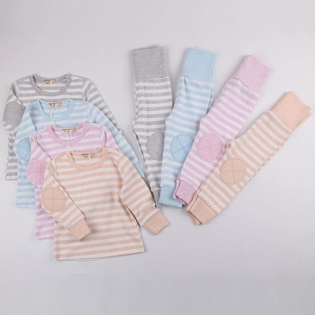 QEOFHO Đồ ngủ trẻ em Quần áo trẻ em QE phiên bản Hàn Quốc của bốn mùa Bộ đồ ngủ trẻ em nam và nữ bằn