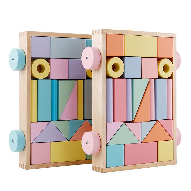 ONSHINE - Bộ đồ chơi lắp ráp bằng gỗ Onlight cho bé .