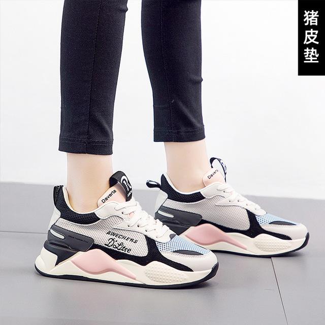 Giày FuJian Túi tóc giúp giày Laojiao Giày nữ mới 2019 xu hướng mùa thu giày lưới thoáng khí giày th