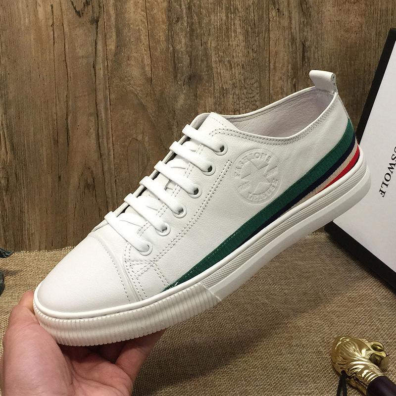 JOEMUSWOLF Giày lười / giày mọi đế cao Cửa hàng vật lý nổ nhà máy bán buôn giày da trắng nam 2019 mù