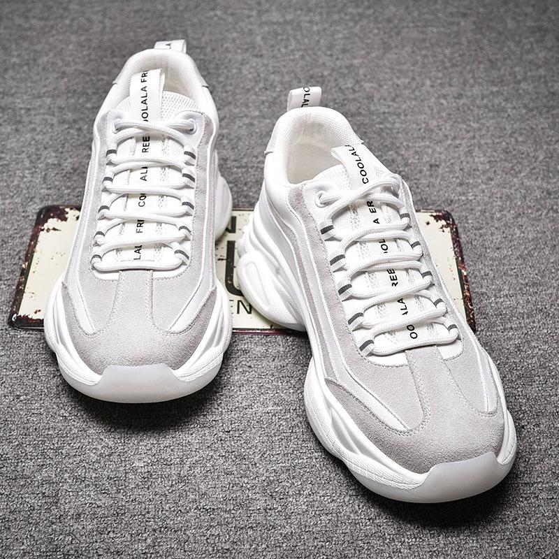 YIWEIMAN Giày Sneaker / Giày trượt ván Giày nam, giày cũ, giày cao, giày thông thường của Hàn Quốc,