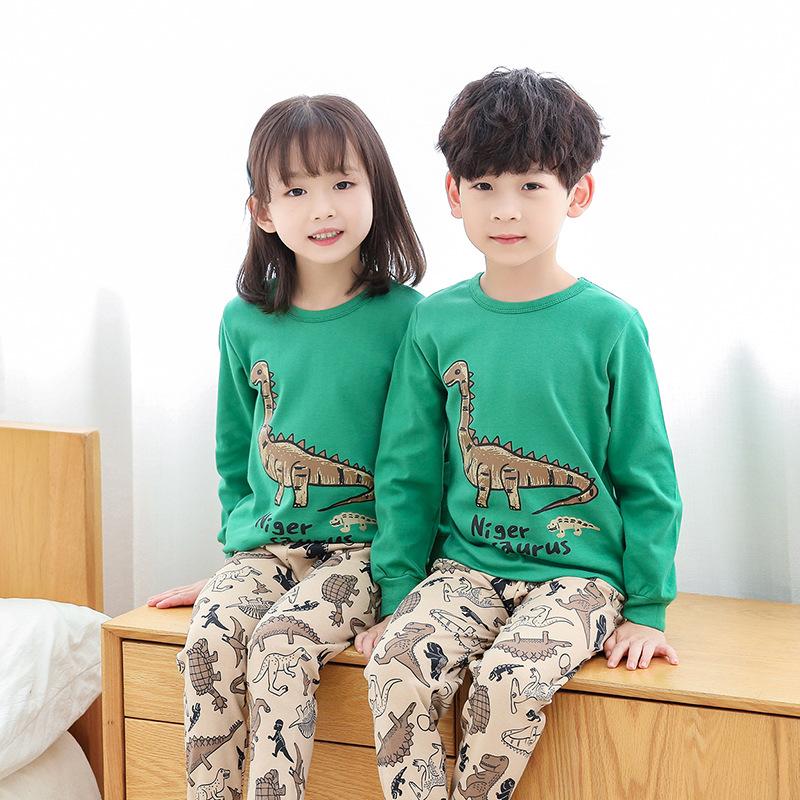 YXYY Đồ ngủ trẻ em Đồ lót trẻ em nhiệt bộ bông bé trai mùa thu và mùa đông mô hình bé bông tóc mùa t