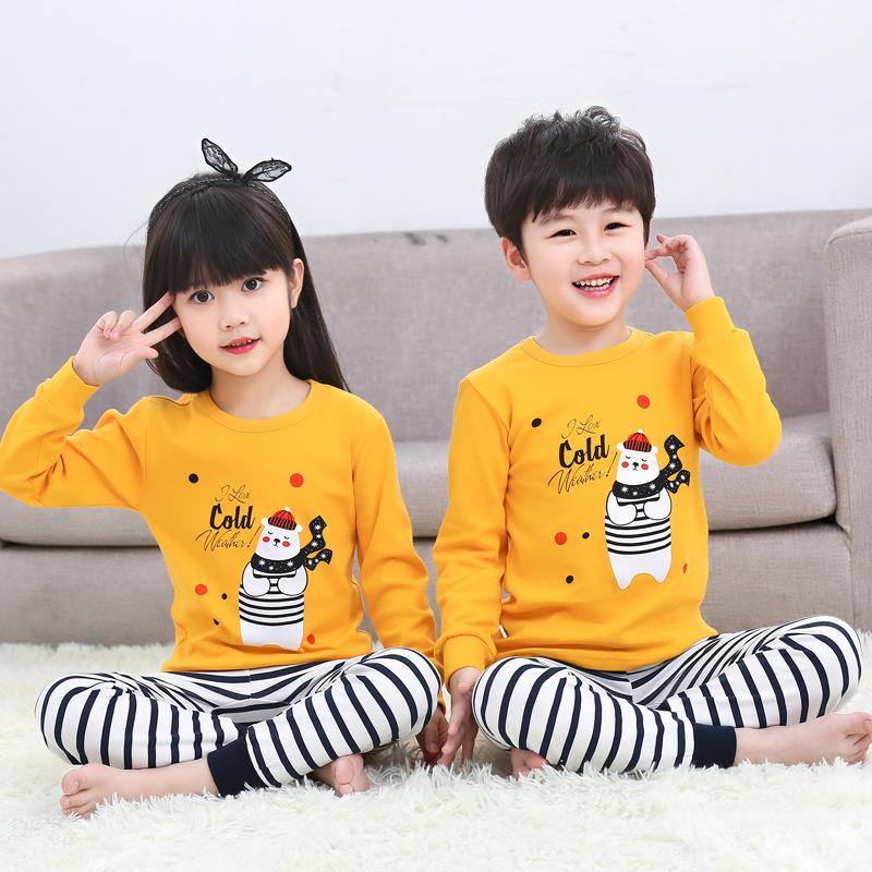 YXYY Đồ ngủ trẻ em Bộ đồ lót trẻ em bằng vải cotton cho bé trai mùa thu bé cotton lông mùa thu quần