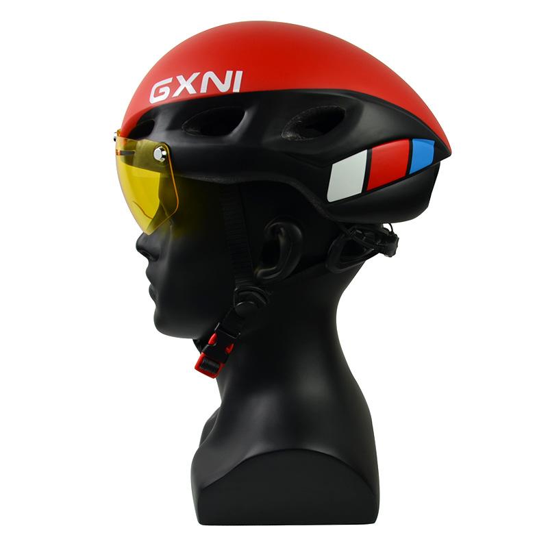 GXNI Mũ bảo hiểm xe đạp Xe đạp mũ bảo hiểm đường núi xe đạp cưỡi mũ bảo hiểm tích hợp đúc từ kính ch