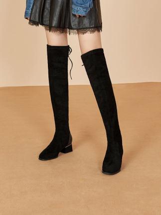 Giày nữ hàng Hot Giày của phụ nữ Belle kéo dài trung tâm mua sắm với cùng một đoạn da cừu của phụ nữ
