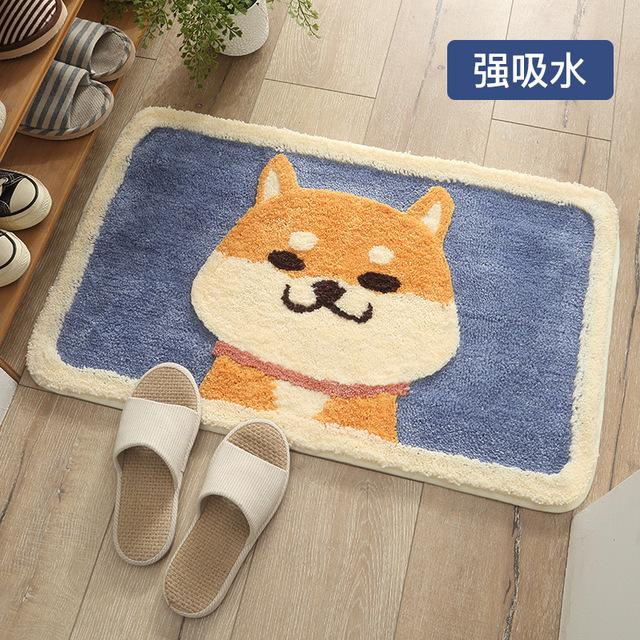 Thảm lót chân chống trượt hình con mèo dễ thương .