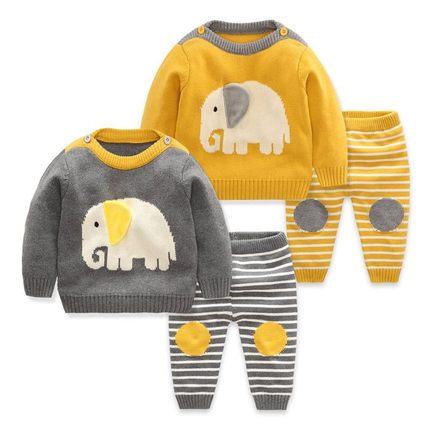 AIMIANFANG Vải dệt kim Yêu quần áo cotton phù hợp với mùa thu và mùa đông nam áo len bé gái hoạt hìn