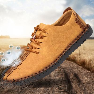 Giày lười Giày FuJian Giày da nam mới thoáng khí giày thông thường Giày nam nam 2019 mẫu giày lười g