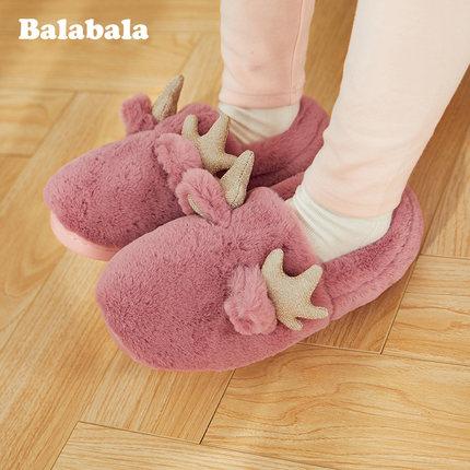 BALABALA dép trẻ em Giày cotton trẻ em của Balabala gas nước ngoài 2019 mùa đông mới chống trơn mềm