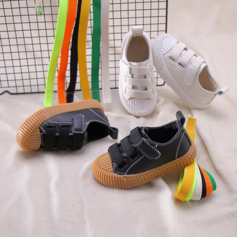 LMDZ Giày trẻ em Hot Giày xuân hè 2019 và giày da mới Giày đế mềm Velcro thoải mái, giày trẻ em nhẹ,