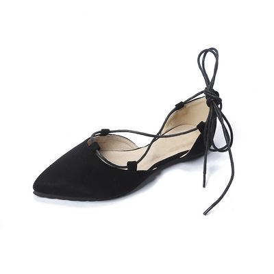 Giày GuangDong Mùa hè 2019 mới thời trang giày đơn nữ mũi nhọn quai chéo Giày đơn Hàn Quốc với giày