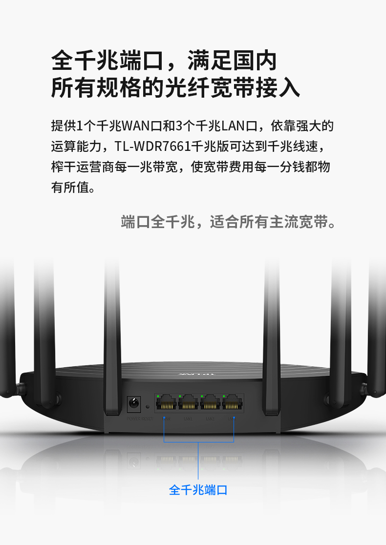 Modom Wifi Ttần số kép TP-LINK 1900m Gigabit wireless router home through wall high speed WiFi Gigab
