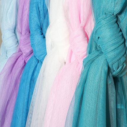 CRYSTAL SHINE RED Vải lưới Muỗi lưới vải vải Mã hóa lưới mềm Váy đầm ren sợi mềm vải tự làm trang ph