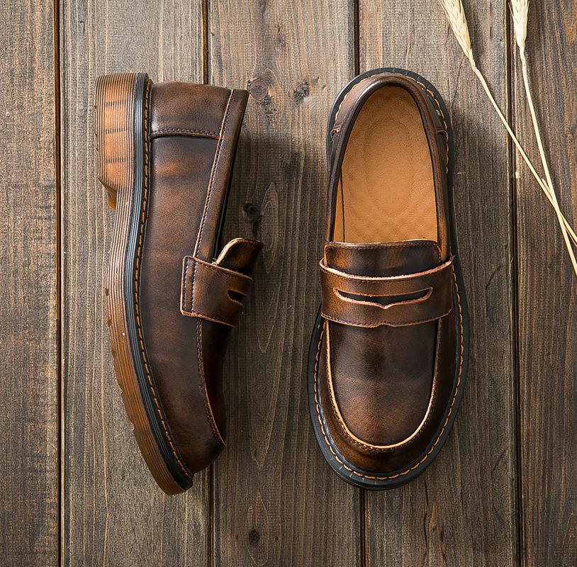 Giày Loafer / giày lười Túi đựng tóc giúp mùa thu 2018 mới Giày Anh Martin Giày nữ đồng phục gió Nhậ