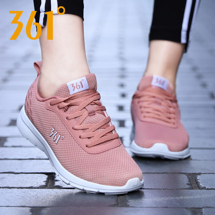 361 Giày lưới  Giày nữ 361 Giày thể thao nữ 2019 mới mùa đông giày thông thường Giày lưới thoáng khí