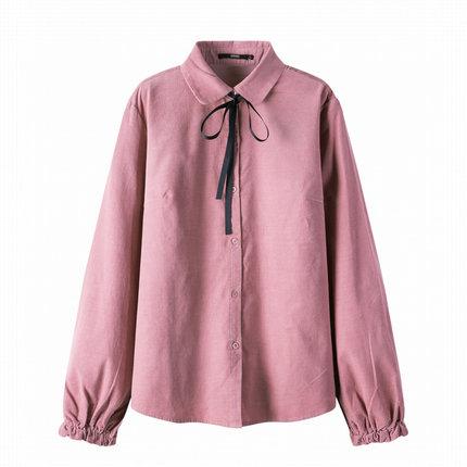 SEMIR Áo sơ mi Áo sơ mi nữ tay dài Senma 2019 mới thiết kế cotton rộng rãi ý nghĩa thiểu số áo sơ mi