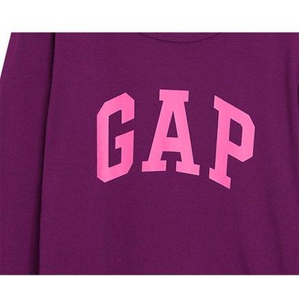 GAP Áo thun Pre-sale Gap Women Vòng cổ dài tay áo thun 495487 2019 Logo thời trang mới Áo sơ mi cơ b