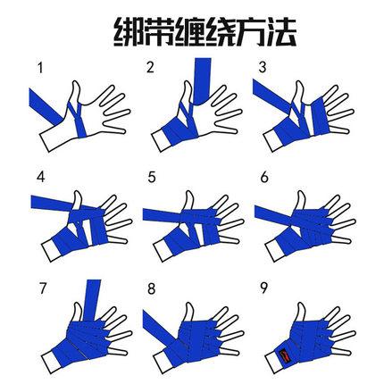 Lining thắt dây Li Ning Boxing Găng tay Băng đeo tay Muay Thái Bọc Dây đeo cổ tay Chiến đấu Thể thao