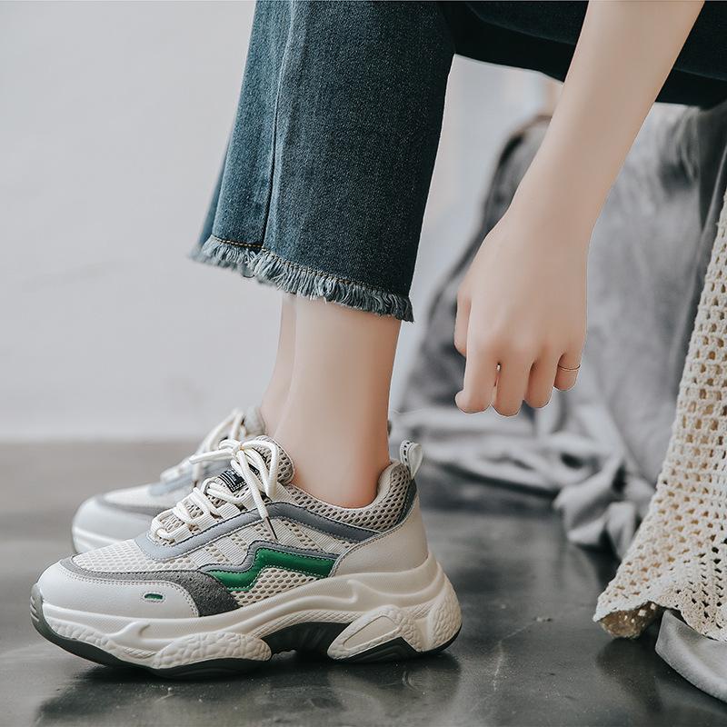 YIDIANLIANG Giày tăng chiều cao Yi Dian đôi giày nữ siêu cháy mới 2019 mùa thu và mùa đông mới dày d