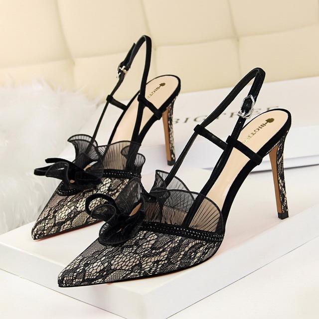 BIGTREE Giày nữ trào lưu Hot 313-5 Châu Âu và Mỹ giày cao gót thời trang tiệc gợi cảm slim nữ giày c
