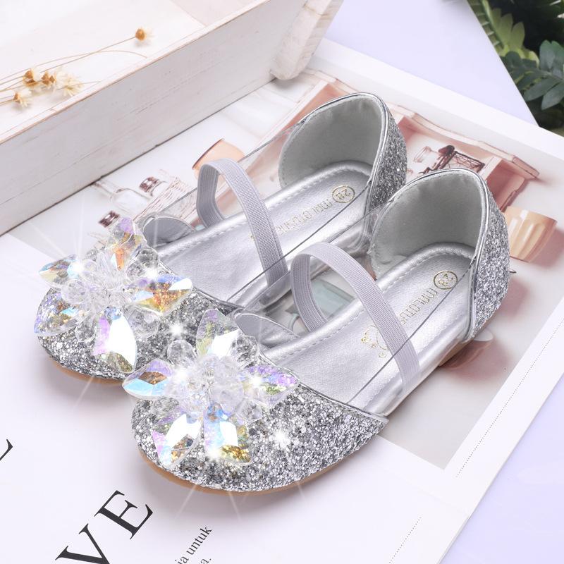 MRLOTUSNEE Giày trẻ em Hot Ice romance Giày công chúa hiệu suất nhảy Giày pha lê đông lạnh xuất khẩu