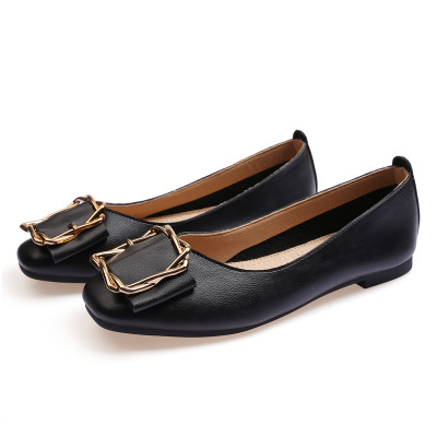 Giày GuangDong Giày nữ 2019 mùa thu mới Giày nữ đế bằng mềm và thoải mái Nhà máy giày nữ cung cấp mộ